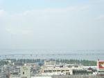 マンションから見える琵琶湖