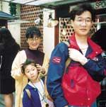 家族で神戸ハーバーランドにて
