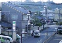 ベランダから見た松江城