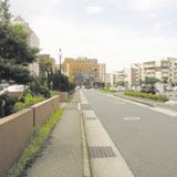 マンション前の道