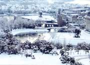 雪のハウステンボス