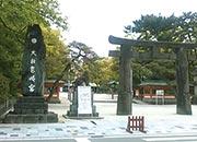 筥崎宮入り口