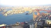 大阪ワールドトレードセンタービルディング[WTCコスモタワー]55階(最上階)展望台からの風景