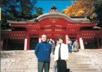 香取神社にて