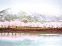 築波山大池公園から雨の間をぬってデッサン