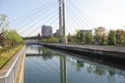 マンション近くの川