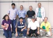 建物点検時の役員の皆さまとの集合写真