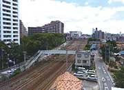 マンションの屋上から見える我孫子駅方面の景色