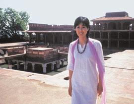 インド アグラ城にて