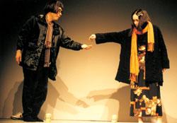 「桃井かおりとイッセ-尾形の二人芝居」 本番舞台風景(原宿クエストホ-ル)