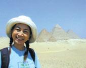 エジプトアブ・シール地区の発掘現場にて