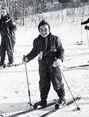 9歳ごろ。カナダのスキー場にて