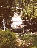 長野市の自宅の庭にて