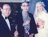 1994年、信濃毎日新聞社社長(当時)、長野電鉄社長(当時)と