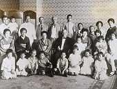 昭和3年9月9日 渋沢栄一(2列目中央)と同族。前列右から2番目が鮫島純子さん
