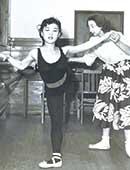 1953年。世界的バレリーナ、アレクサンドラ・ダニロワのレッスン
