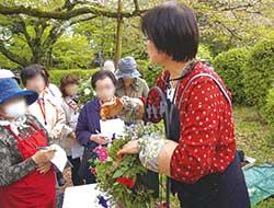 ガーデニング・シティを目指す千葉県市川市でのハンギングバスケット講習会