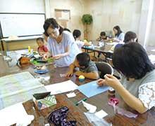 夏休み親子教室 「カップケーキ」(名古屋市 紙専門店「紙の温度」にて)