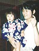 1988年。娘と