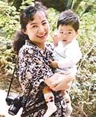 1992年の初秋、長男が1歳で、奈良の長谷寺にて