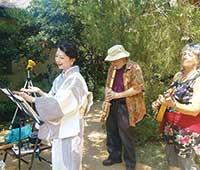2017年7月6日 米 カリフォルニア パサデナ Storrier Stearns Japanese Gardenにて。BGMのRick W. 氏、 Jean S. 氏と