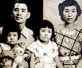 6歳のころ。父、母、妹と