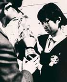14歳のころ。全日本女流アマチュア囲碁選手権戦で優勝し、「おかっぱ本因坊」として話題に