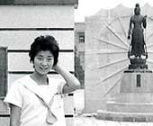 18歳のころ。通っていた四天王寺高校の前で