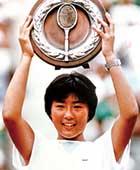 1988年、15歳で全日本テニス選手権優勝