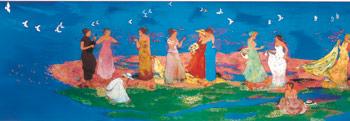 ファンケルスクエア壁画『FUN-FUN』2003年