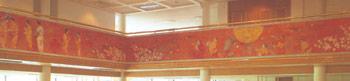 日中合弁ホテル(西安)「唐華賓館」壁画『二都花宴図』