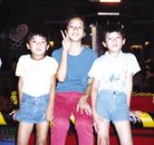 1988年ソウルオリンピック。 大好きな弟2人と