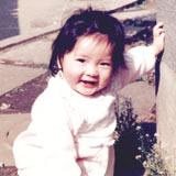 1才のころ。軽井沢の別荘にて