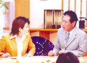 2005年 星野仙一さんと。 レギュラー番組で