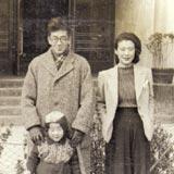 上海にて。ご両親と