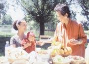 カナダにて、 次女・ノエルと孫の馨林と一緒に ピクニック