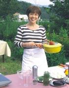 屋外での料理番組収録風景