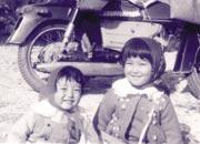 6才。父に連れられて妹と野原へ