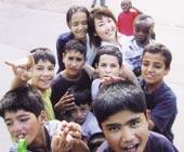 ドイツ平和村にて アフガニスタンの男の子たちと