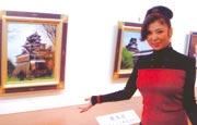 平成19年11月熊本鶴屋デパート 「八代亜紀絵画展」会場にて