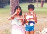 '82.7月ニューヨーク州イサカ で友人の娘と一緒に