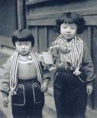 5才のころ、妹と