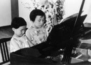 姉と一緒にピアノ発表会
