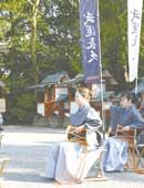 2007年3月 津島神社にて。 2年前から太鼓の稽古をしています