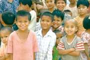 毎年ワクチンを届けているミャンマーの子どもたち