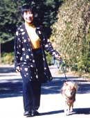 愛犬メリーと散歩