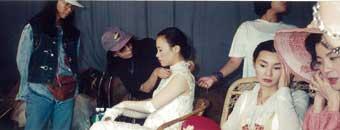 1996年、映画『宋家の三姉妹』撮影現場