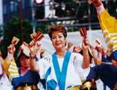 毎年参加している、高知よさこい祭りでのスナップ。平成2年