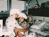 21年前、子宮頸がんで入院していたころ。娘の仁美さんは6歳