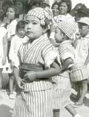 5歳(幼稚園)のころ。地元糸満市の村祭り